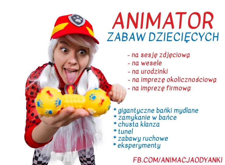 animator zabaw dziecięcych